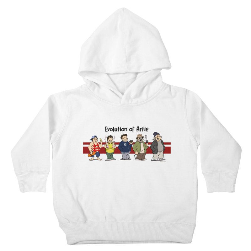 Evolution of Artie Lange Kids Toddler Pullover Hoody by The Phantom's T-Shirt Shop