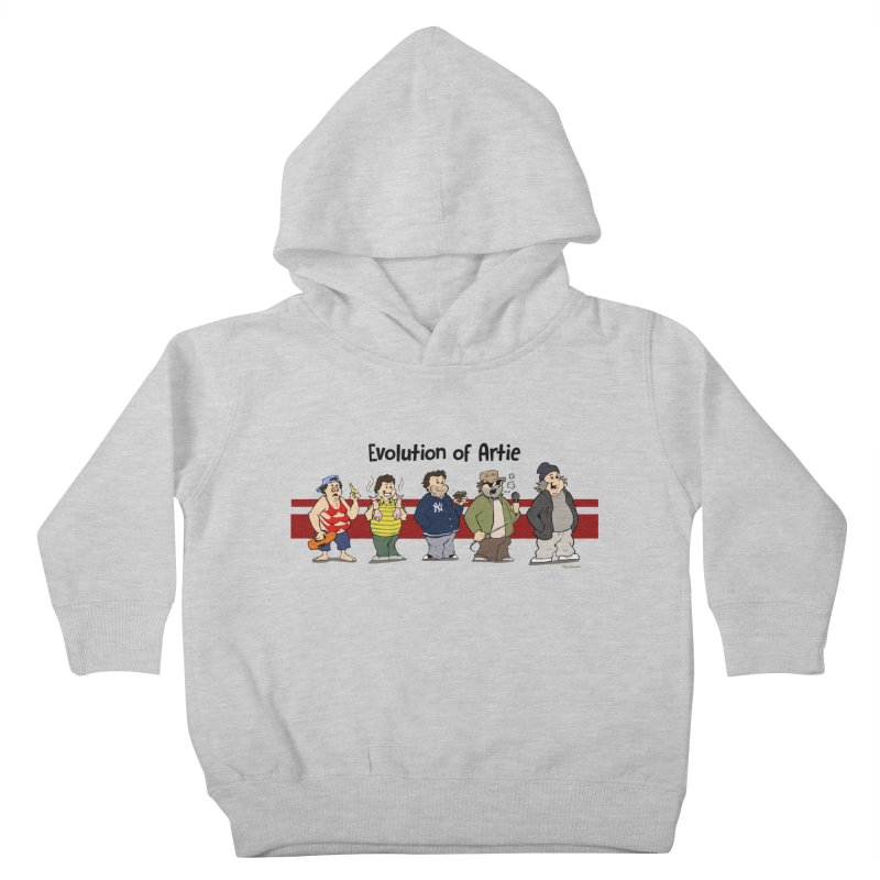 Evolution of Artie Lange Kids Toddler Pullover Hoody by Mike Hampton's T-Shirt Shop