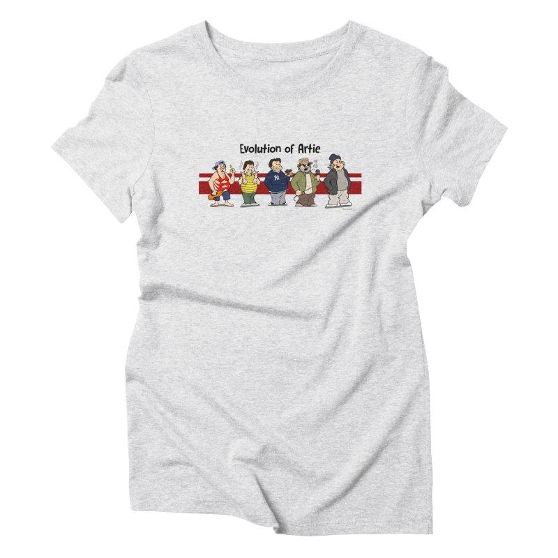 Evolution of Artie Lange Women's Triblend T-Shirt by The Phantom's T-Shirt Shop