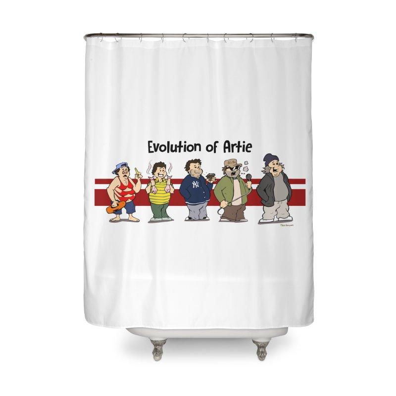 Evolution of Artie Lange Home Shower Curtain by The Phantom's T-Shirt Shop