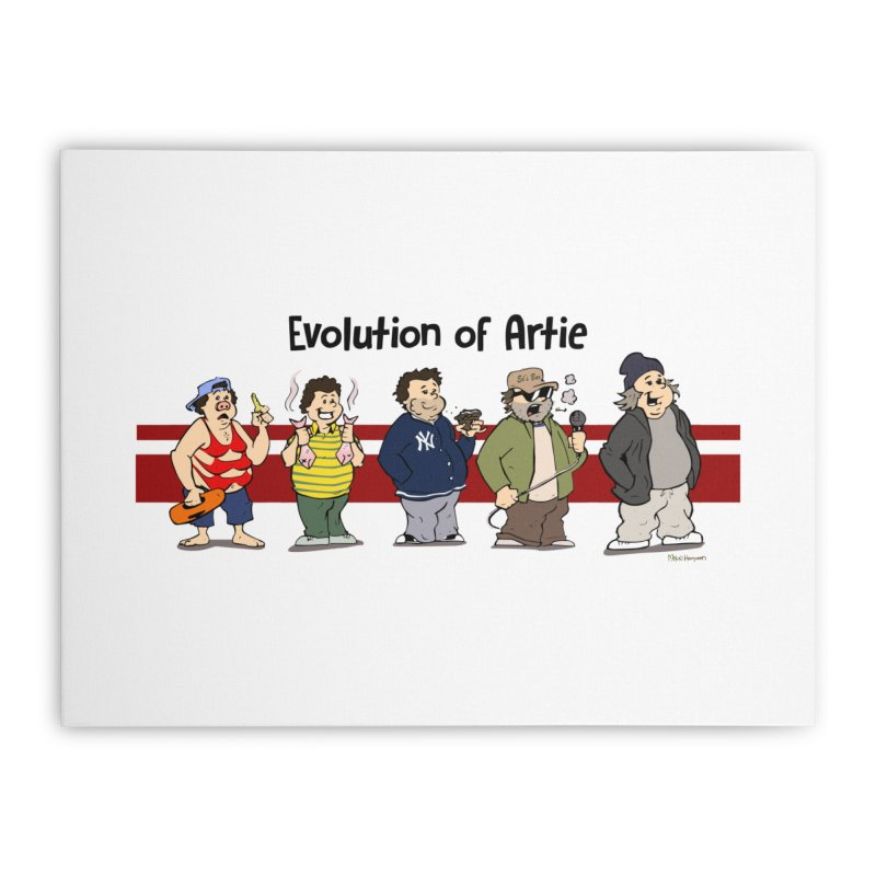 Evolution of Artie Lange Home Stretched Canvas by The Phantom's T-Shirt Shop