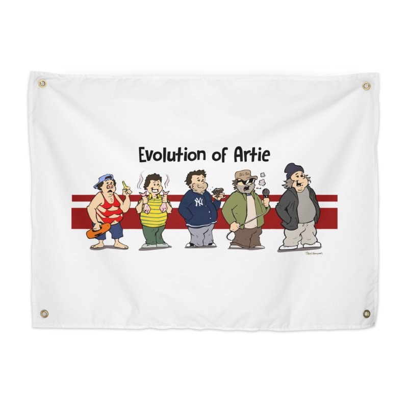 Evolution of Artie Lange Home Tapestry by The Phantom's T-Shirt Shop