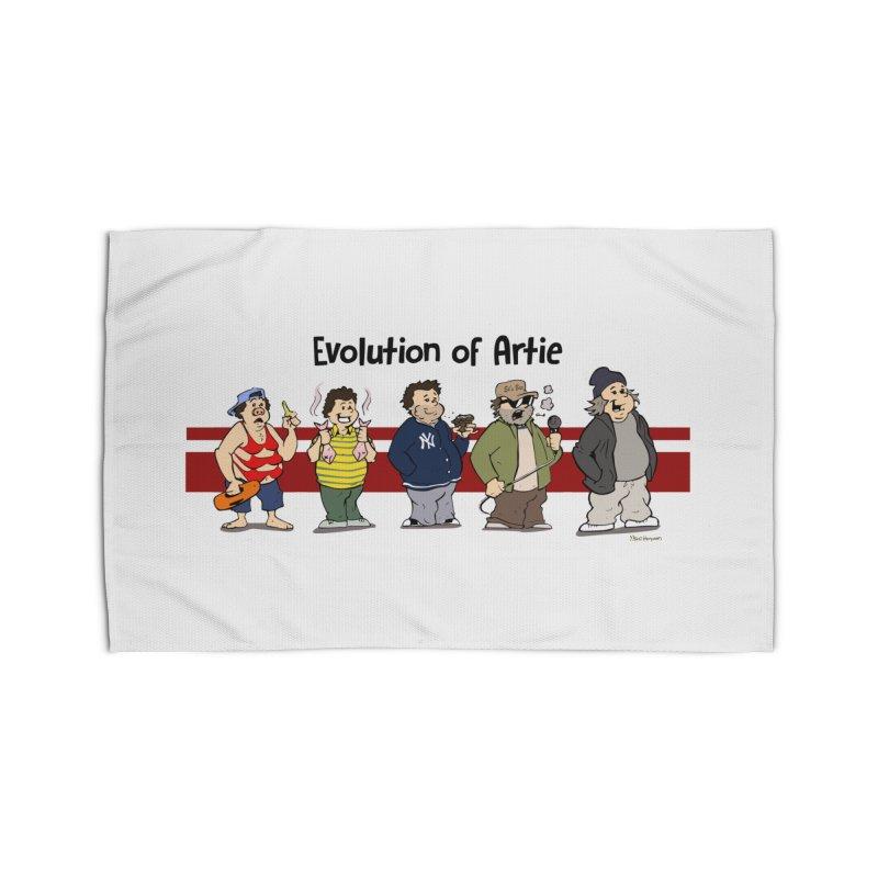 Evolution of Artie Lange Home Rug by The Phantom's T-Shirt Shop