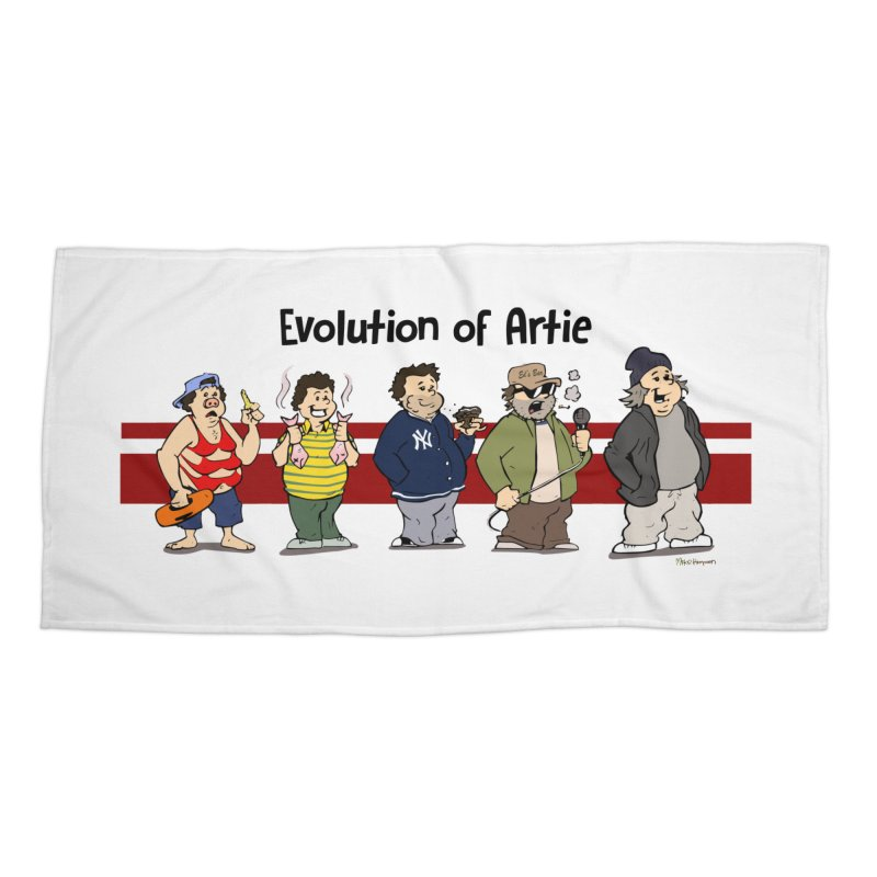 Evolution of Artie Lange Accessories Beach Towel by The Phantom's T-Shirt Shop