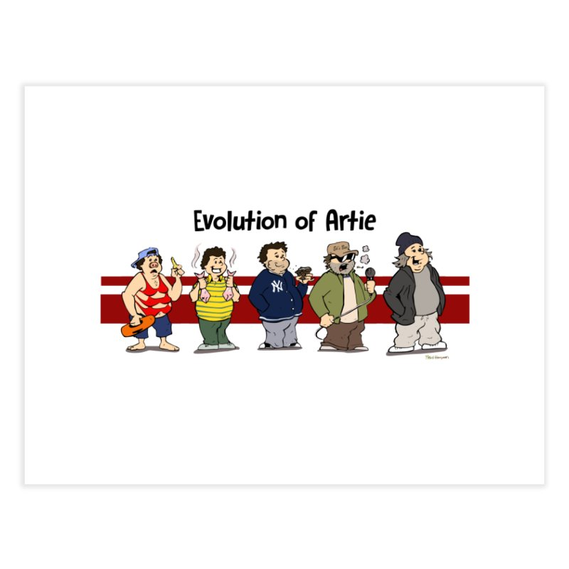 Evolution of Artie Lange Home Fine Art Print by The Phantom's T-Shirt Shop