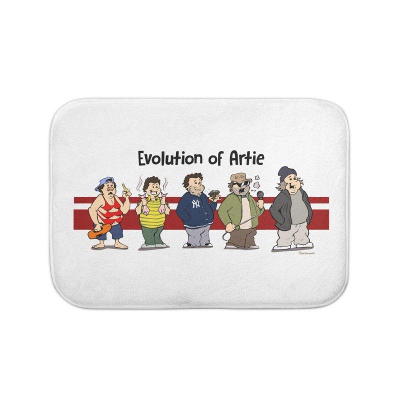 Evolution of Artie Lange Home Bath Mat by The Phantom's T-Shirt Shop