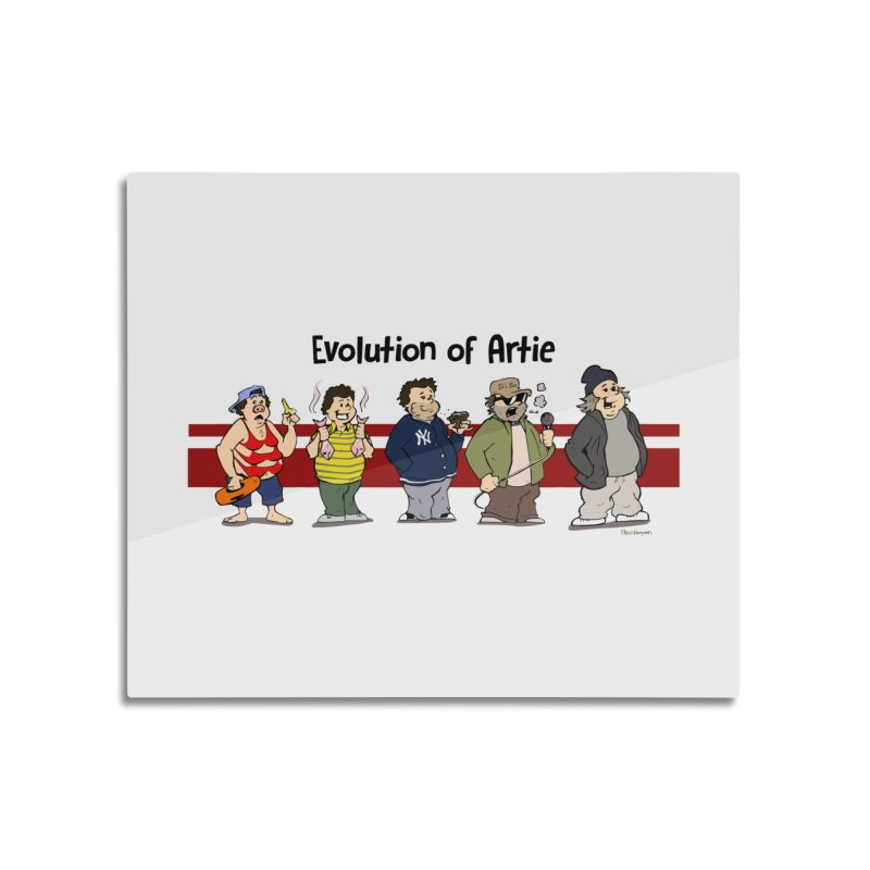 Evolution of Artie Lange Home Mounted Aluminum Print by The Phantom's T-Shirt Shop