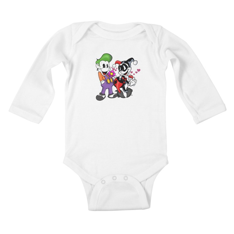 BFF's The Lovers Kids Baby Longsleeve Bodysuit by Mike Hampton's T-Shirt Shop