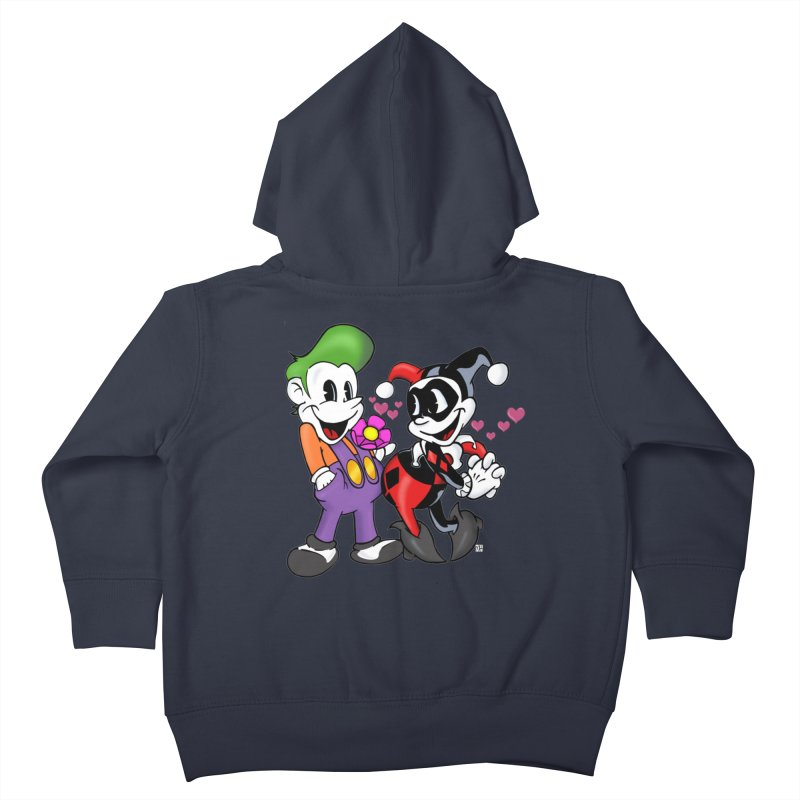 BFF's The Lovers Kids Toddler Zip-Up Hoody by Mike Hampton's T-Shirt Shop