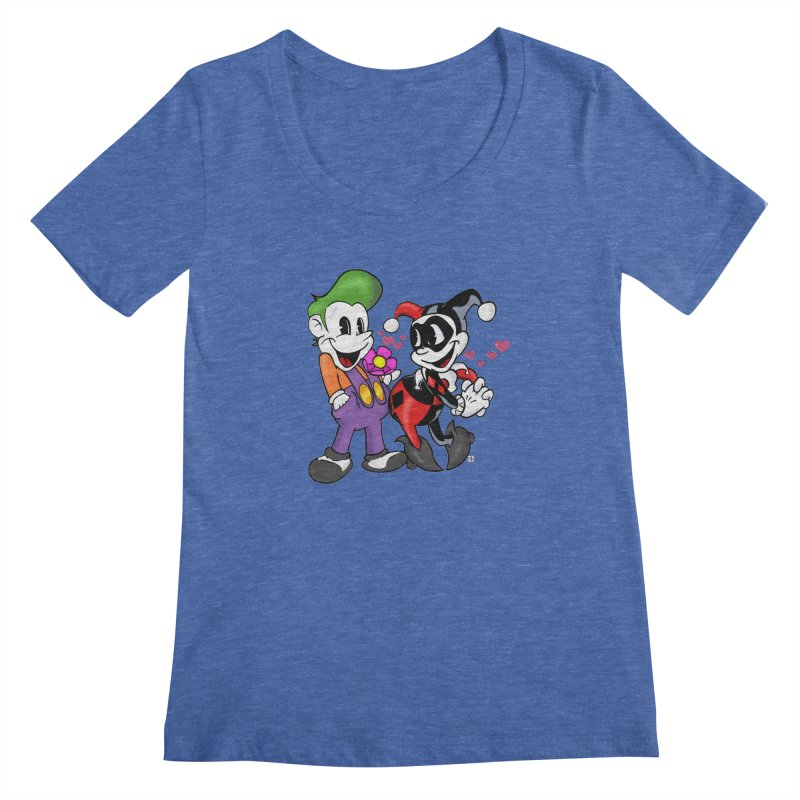 BFF's The Lovers Women's Scoopneck by The Phantom's T-Shirt Shop
