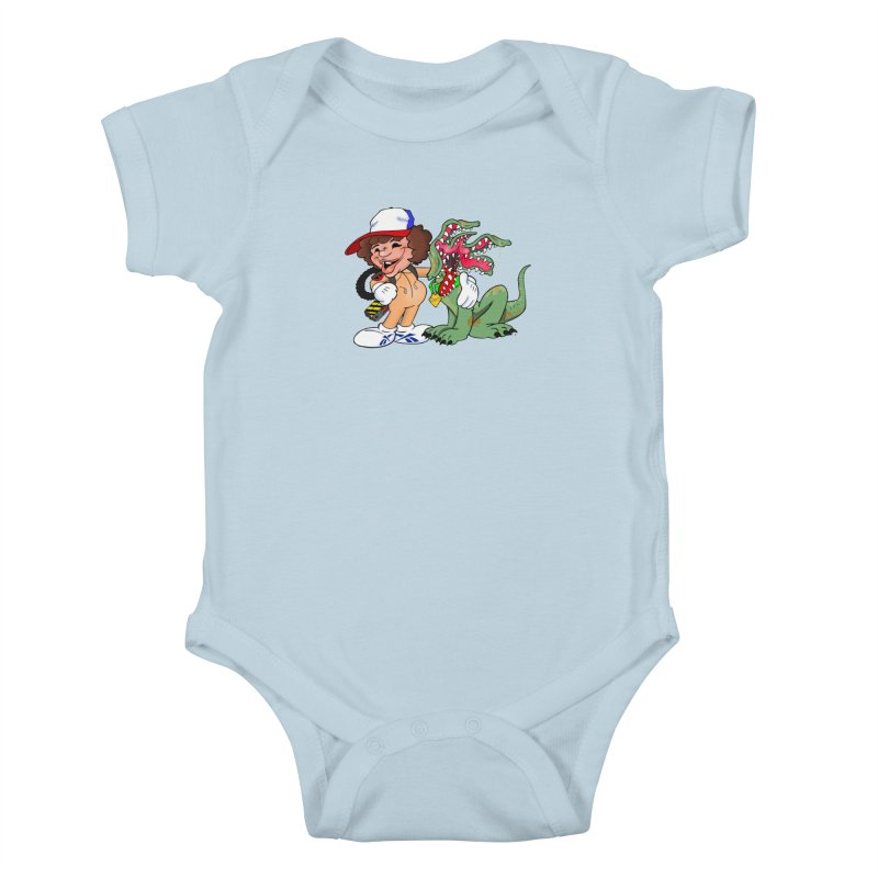 BFF's A boy and his... dog. Kids Baby Bodysuit by Mike Hampton's T-Shirt Shop