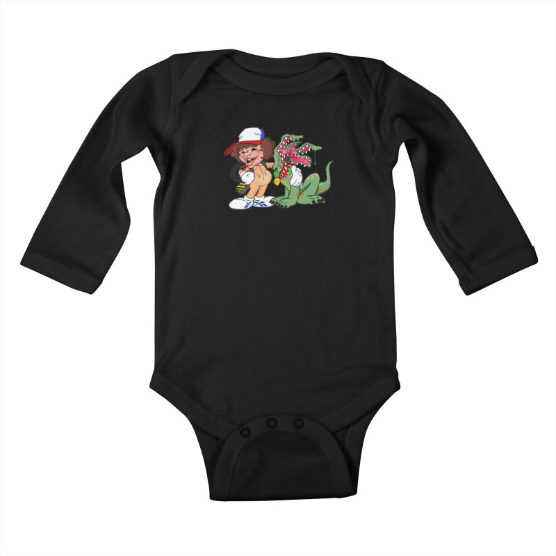 BFF's A boy and his... dog. Kids Baby Longsleeve Bodysuit by Mike Hampton's T-Shirt Shop