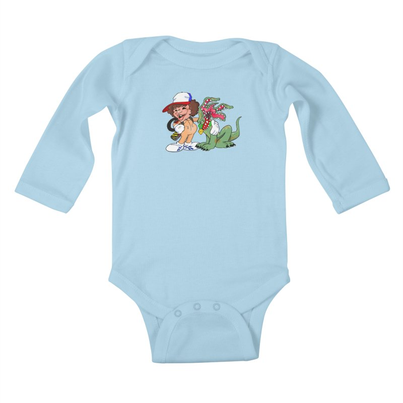 BFF's A boy and his... dog. Kids Baby Longsleeve Bodysuit by The Phantom's T-Shirt Shop