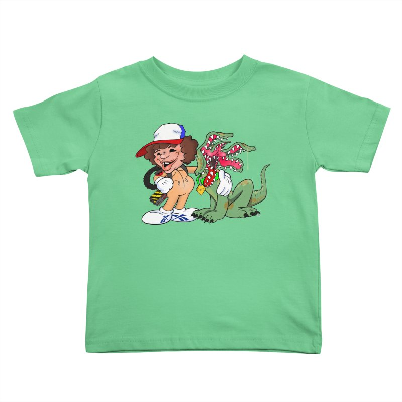 BFF's A boy and his... dog. Kids Toddler T-Shirt by Mike Hampton's T-Shirt Shop