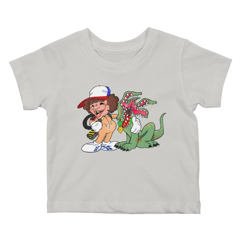 BFF's A boy and his... dog. Kids Baby T-Shirt by Mike Hampton's T-Shirt Shop