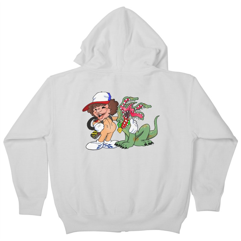 BFF's A boy and his... dog. Kids Zip-Up Hoody by Mike Hampton's T-Shirt Shop