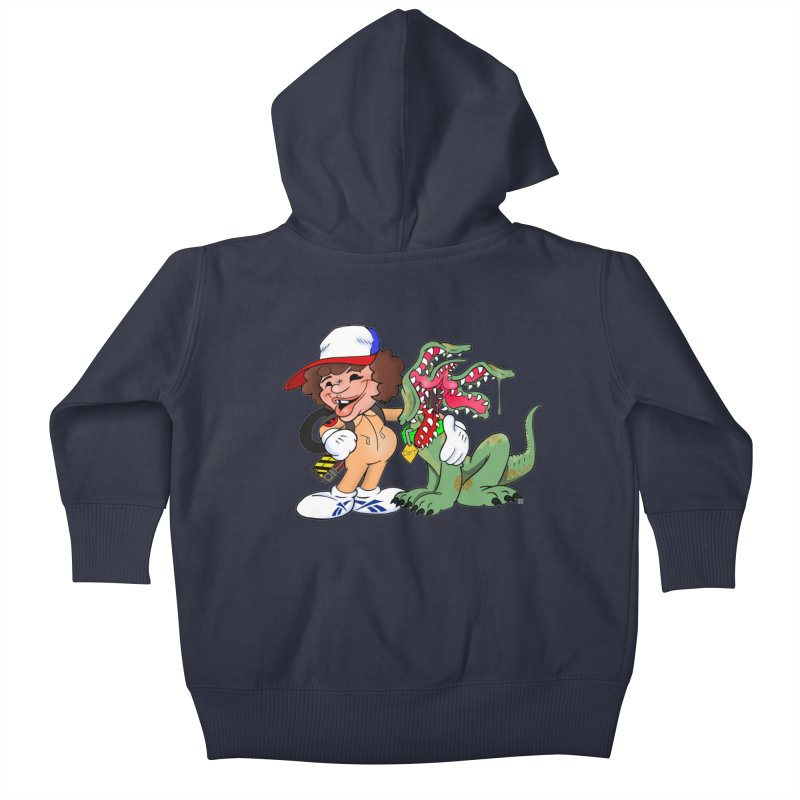 BFF's A boy and his... dog. Kids Baby Zip-Up Hoody by Mike Hampton's T-Shirt Shop