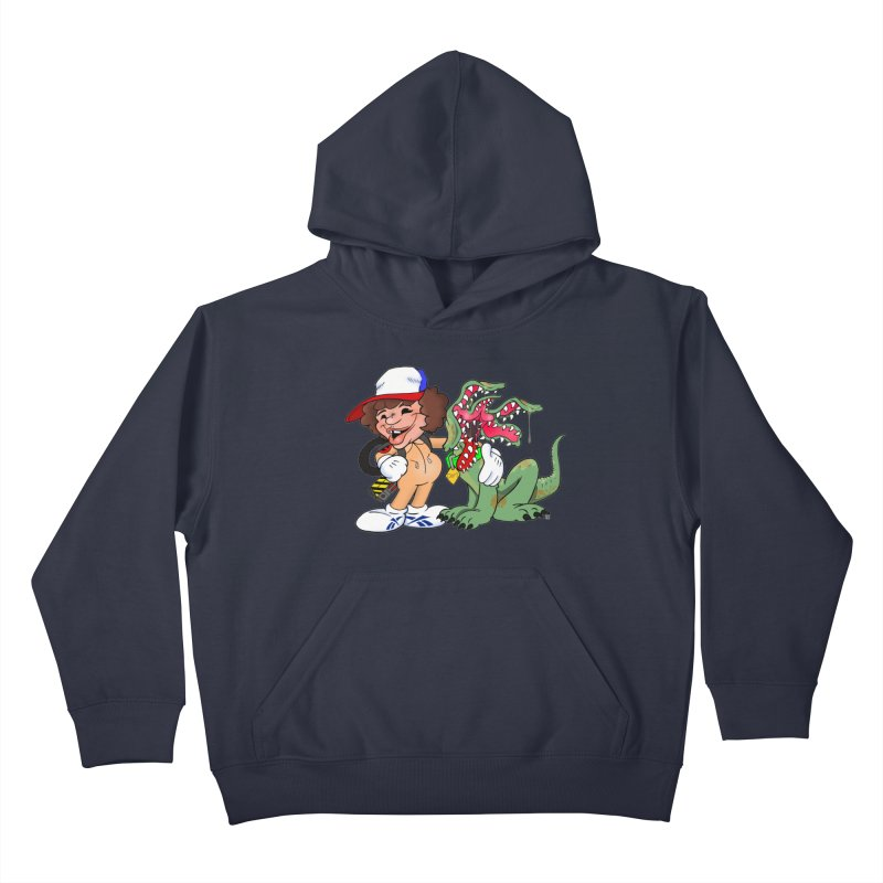 BFF's A boy and his... dog. Kids Pullover Hoody by The Phantom's T-Shirt Shop