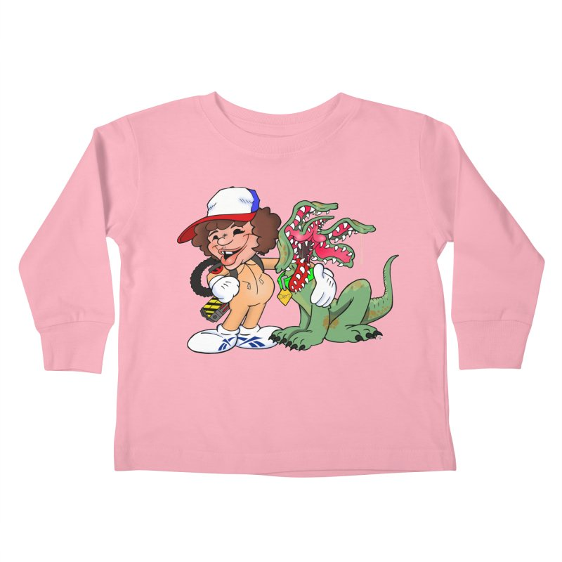 BFF's A boy and his... dog. Kids Toddler Longsleeve T-Shirt by Mike Hampton's T-Shirt Shop
