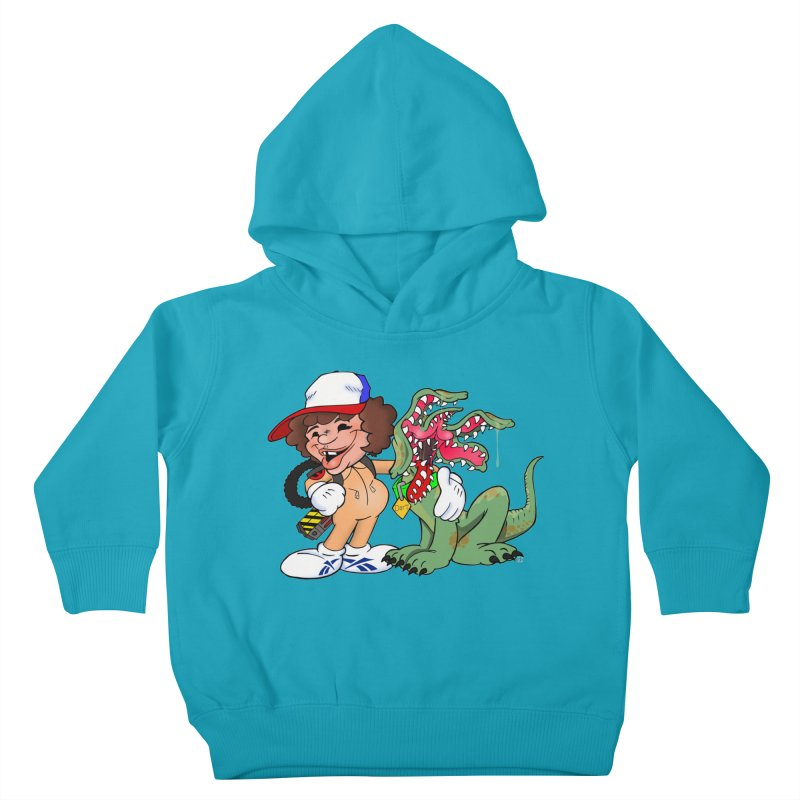 BFF's A boy and his... dog. Kids Toddler Pullover Hoody by Mike Hampton's T-Shirt Shop