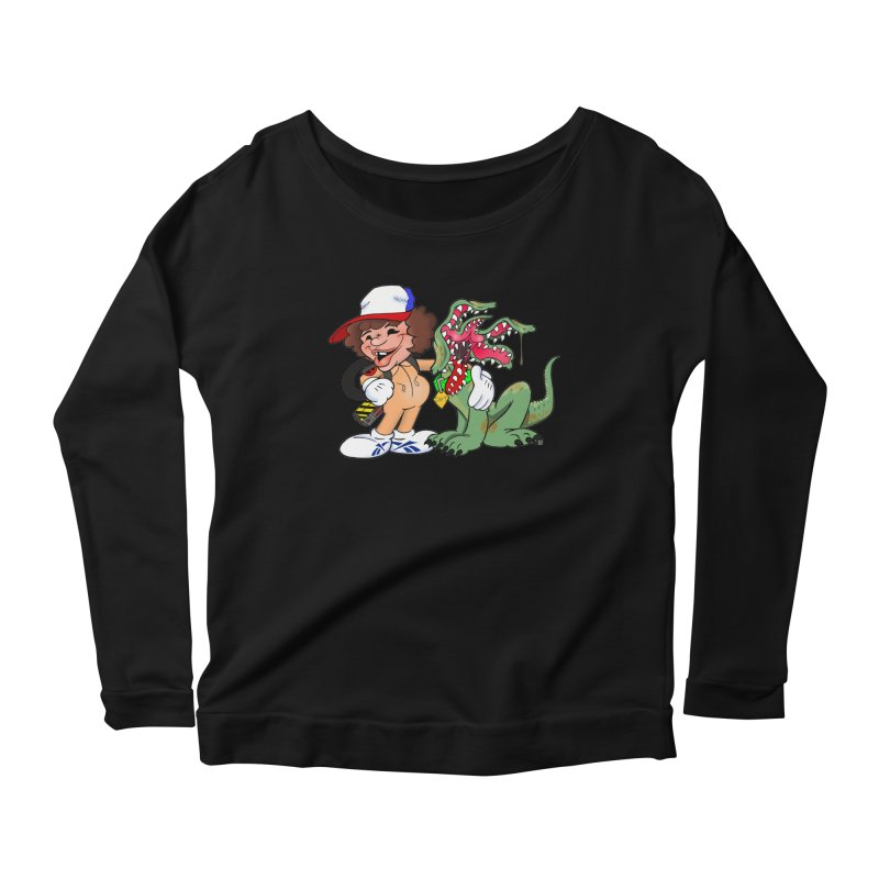 BFF's A boy and his... dog. Women's Longsleeve Scoopneck  by The Phantom's T-Shirt Shop