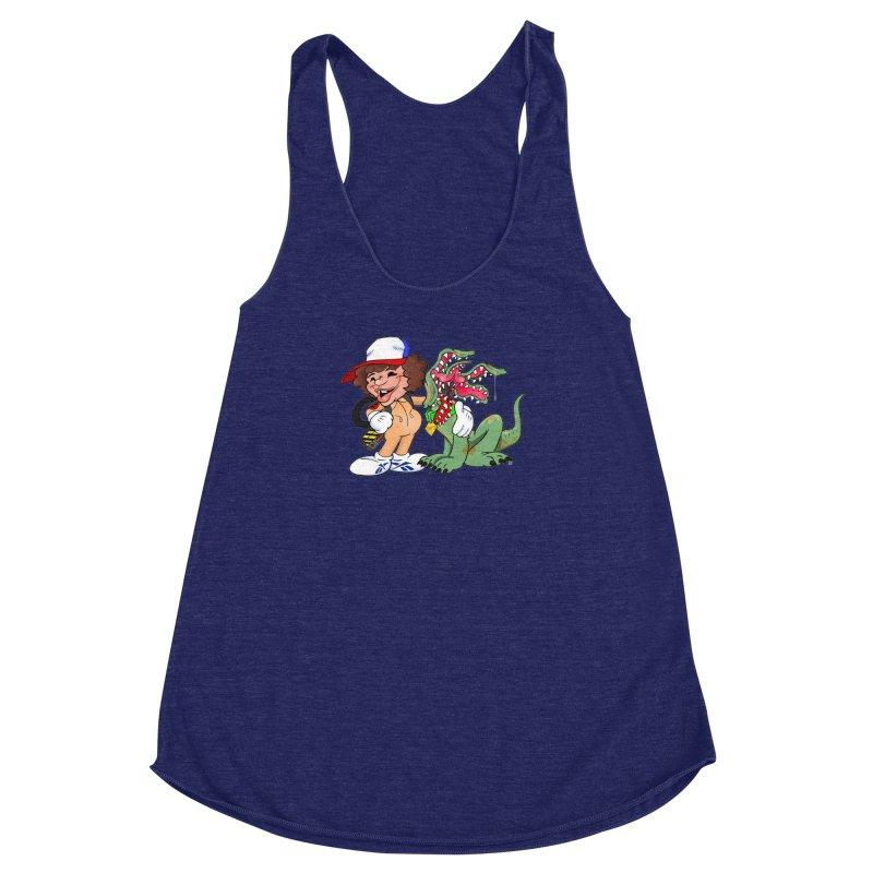 BFF's A boy and his... dog. Women's Racerback Triblend Tank by Mike Hampton's T-Shirt Shop