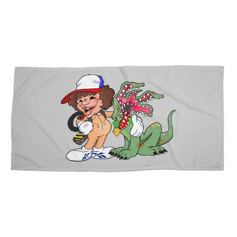 BFF's A boy and his... dog. Accessories Beach Towel by Mike Hampton's T-Shirt Shop