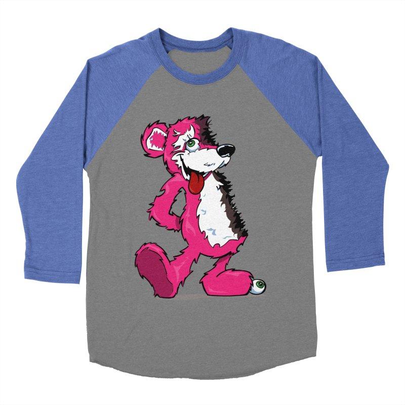 Breaking Bear Women's Baseball Triblend T-Shirt by Mike Hampton's T-Shirt Shop