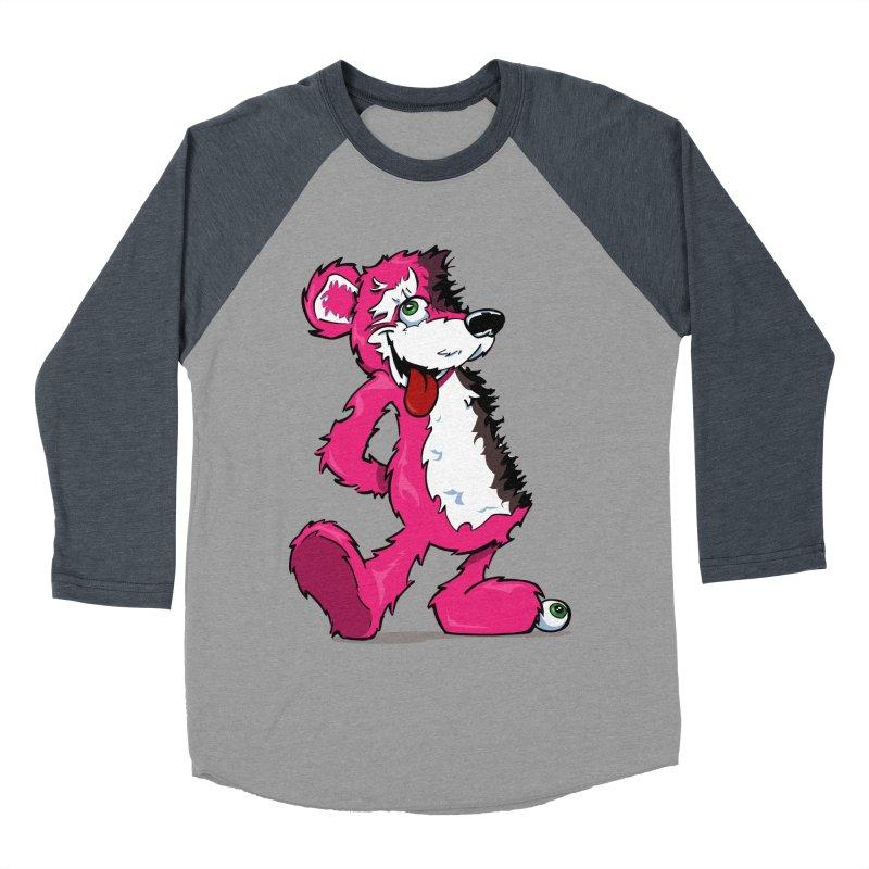 Breaking Bear Men's Baseball Triblend T-Shirt by Mike Hampton's T-Shirt Shop