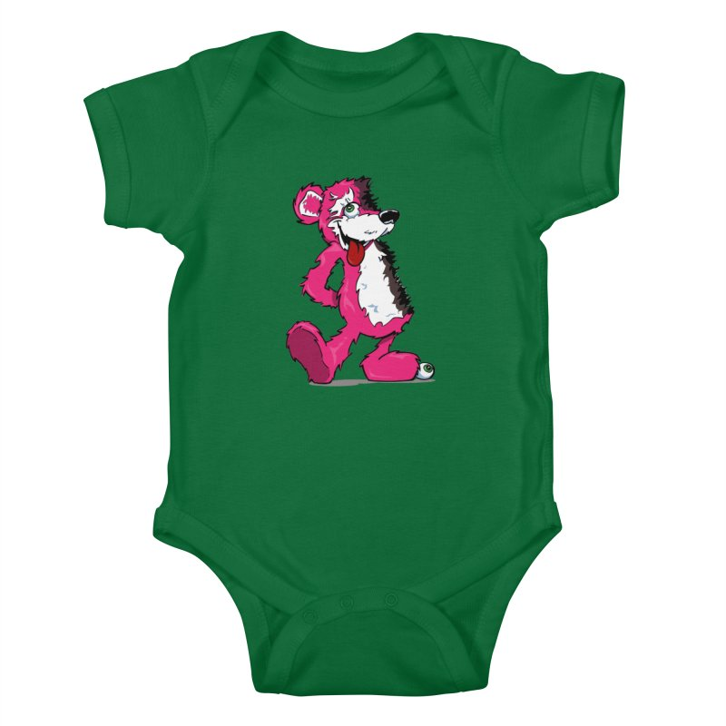 Breaking Bear Kids Baby Bodysuit by Mike Hampton's T-Shirt Shop