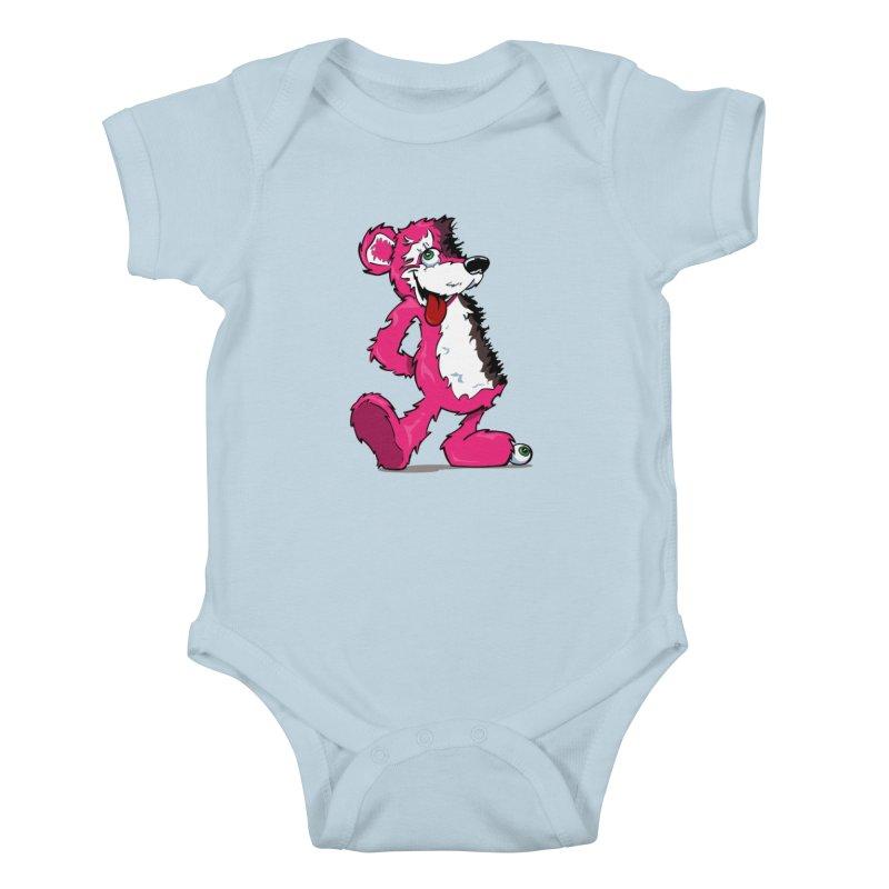 Breaking Bear Kids Baby Bodysuit by The Phantom's T-Shirt Shop