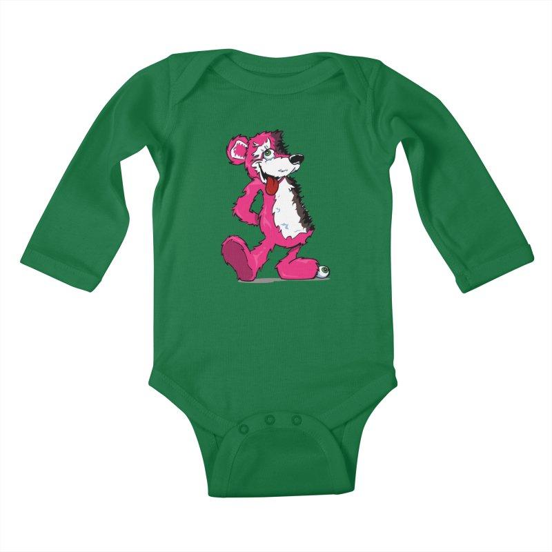 Breaking Bear Kids Baby Longsleeve Bodysuit by Mike Hampton's T-Shirt Shop