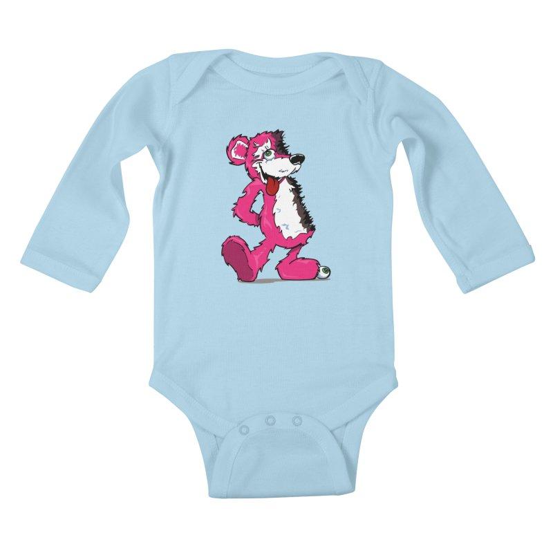 Breaking Bear Kids Baby Longsleeve Bodysuit by The Phantom's T-Shirt Shop