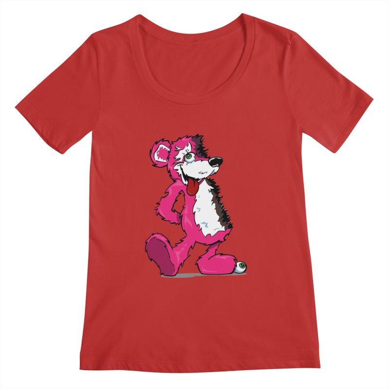 Breaking Bear Women's Scoopneck by The Phantom's T-Shirt Shop