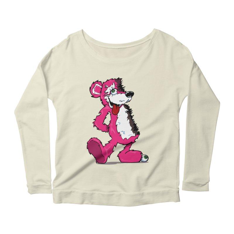 Breaking Bear Women's Longsleeve Scoopneck  by The Phantom's T-Shirt Shop