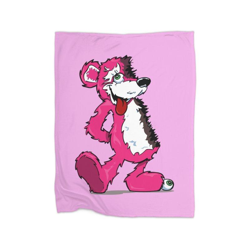 Breaking Bear Home Blanket by The Phantom's T-Shirt Shop