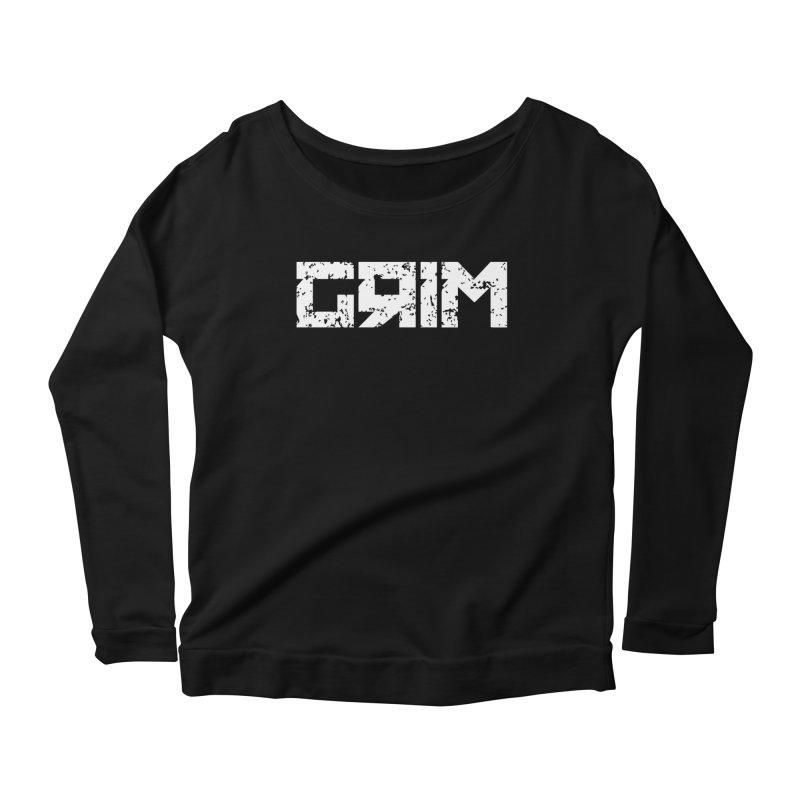 GRIM Women's Longsleeve Scoopneck  by Mike Hampton's T-Shirt Shop