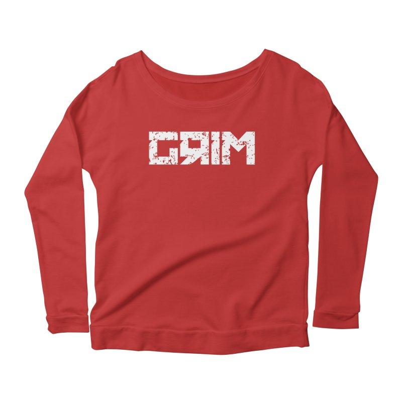 GRIM Women's Longsleeve Scoopneck  by The Phantom's T-Shirt Shop