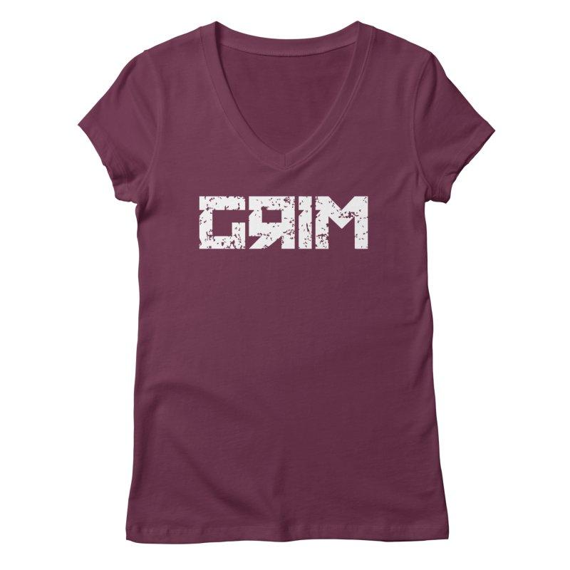 GRIM Women's V-Neck by Mike Hampton's T-Shirt Shop