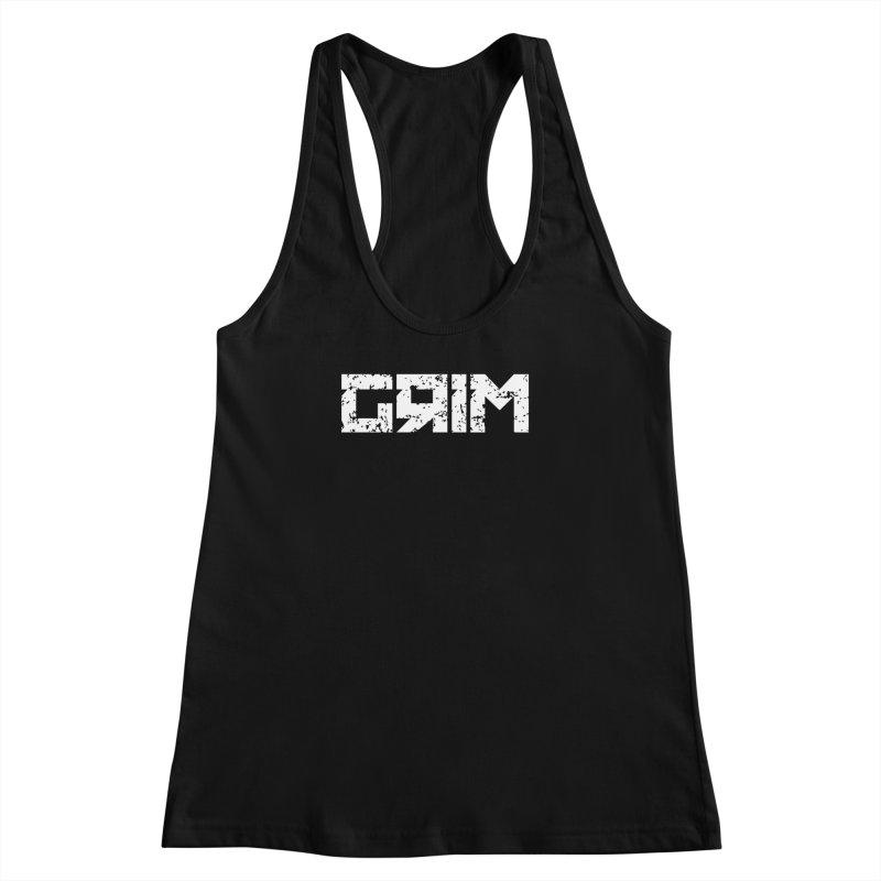 GRIM Women's Racerback Tank by Mike Hampton's T-Shirt Shop