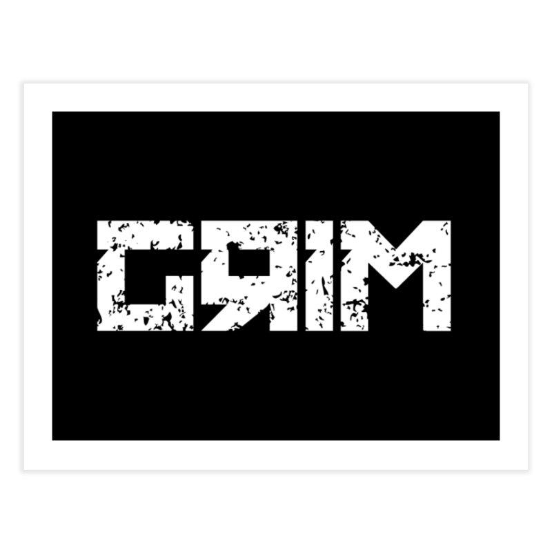 GRIM Home Fine Art Print by Mike Hampton's T-Shirt Shop