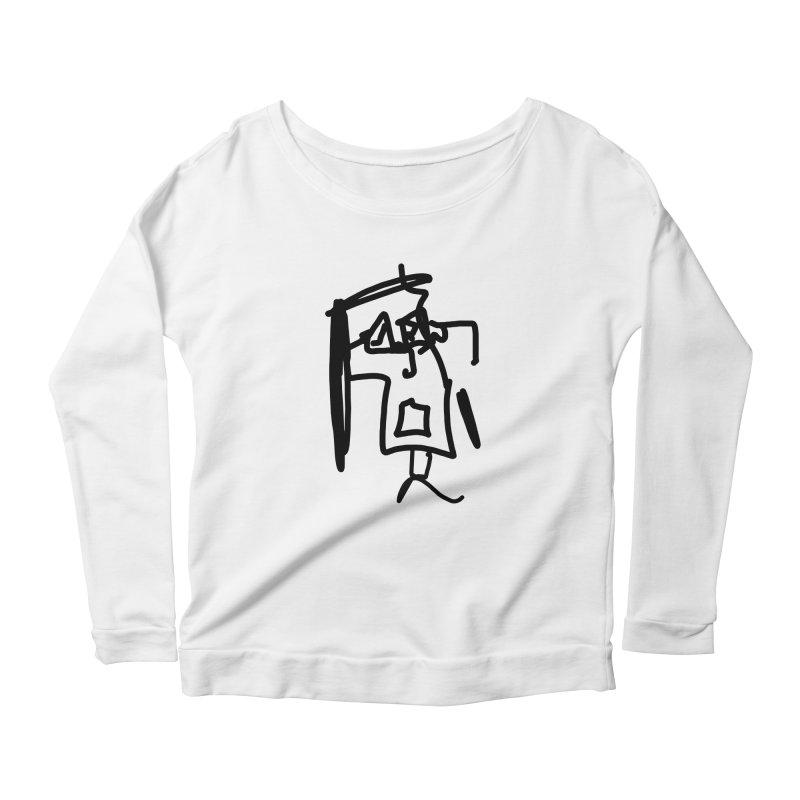 Monica Women's Longsleeve Scoopneck  by The Phantom's T-Shirt Shop