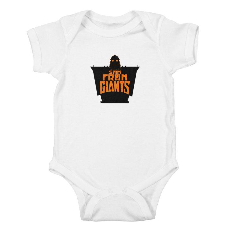 San Fran Iron Giants Kids Baby Bodysuit by Mike Hampton's T-Shirt Shop