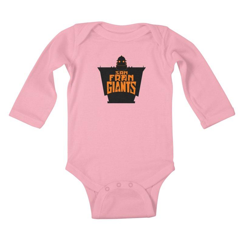San Fran Iron Giants Kids Baby Longsleeve Bodysuit by Mike Hampton's T-Shirt Shop