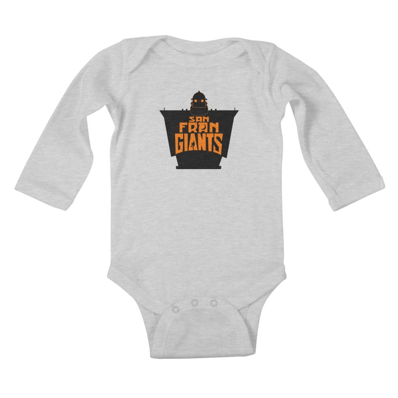 San Fran Iron Giants Kids Baby Longsleeve Bodysuit by Mike Hampton's T-Shirt Shop