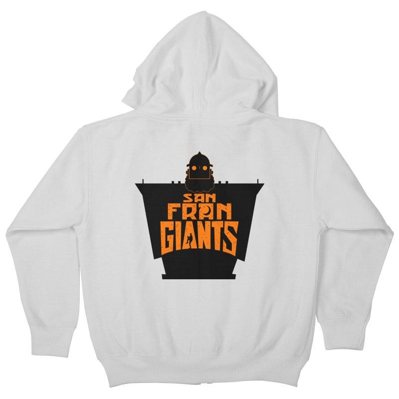 San Fran Iron Giants Kids Zip-Up Hoody by Mike Hampton's T-Shirt Shop