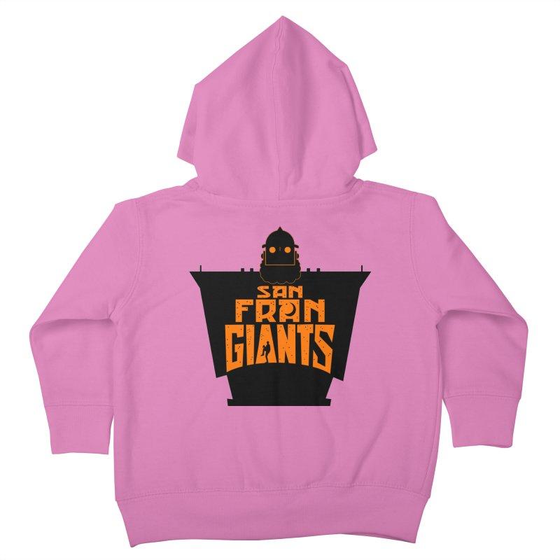 San Fran Iron Giants Kids Toddler Zip-Up Hoody by Mike Hampton's T-Shirt Shop