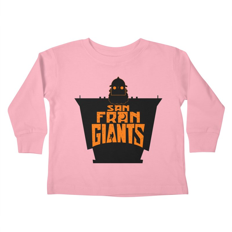 San Fran Iron Giants Kids Toddler Longsleeve T-Shirt by Mike Hampton's T-Shirt Shop