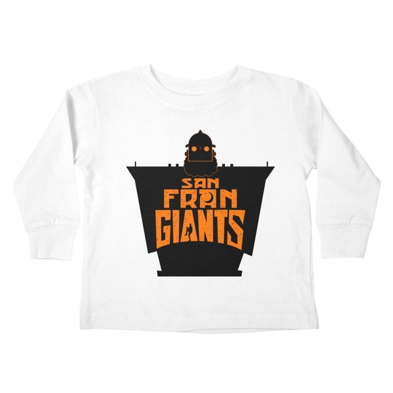 San Fran Iron Giants Kids Toddler Longsleeve T-Shirt by Mike Hampton's T-Shirt Shop
