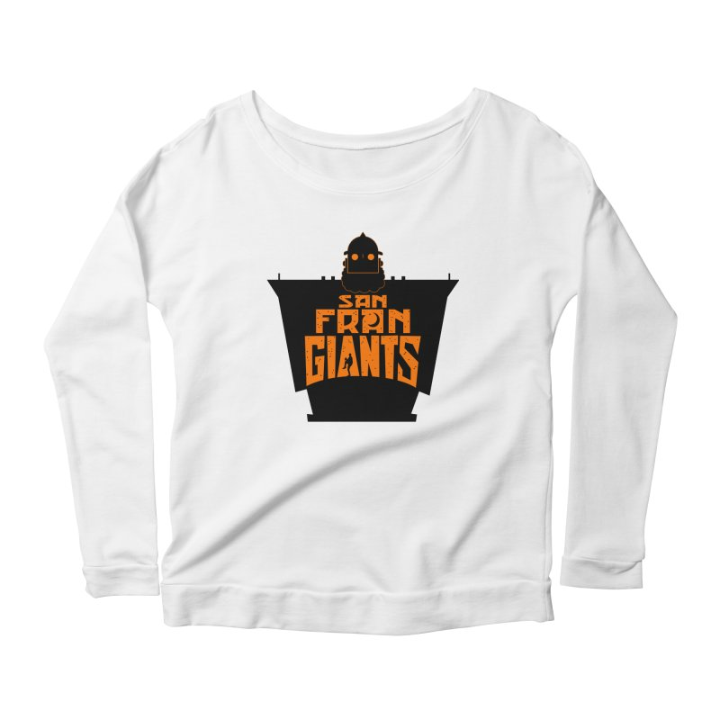 San Fran Iron Giants Women's Longsleeve Scoopneck  by Mike Hampton's T-Shirt Shop